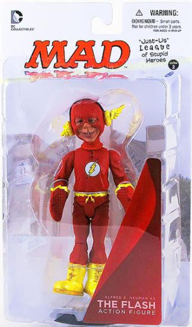 DC MAD Just Us League of Stupid Heroes Alfred E. Neuman as The Flash Action Figure