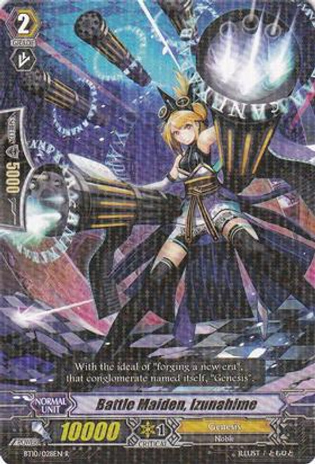 Cardfight Vanguard Triumphant Return of the King of Knights Rare Battle Maiden, Izunahime BT10/028