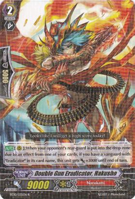 Cardfight Vanguard Triumphant Return of the King of Knights Rare Double Gun Eradicator, Hakusho BT10/035