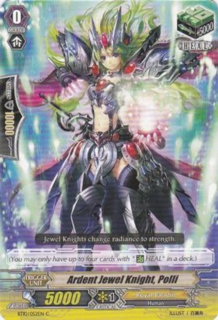 Cardfight Vanguard Triumphant Return of the King of Knights Common Ardent Jewel Knight, Polli BT10/052