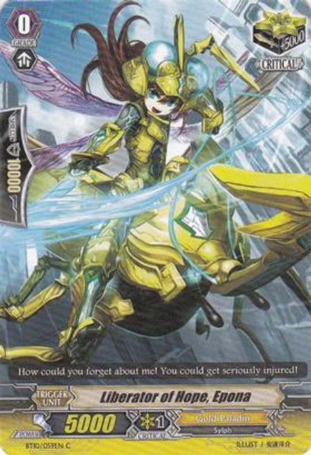 Cardfight Vanguard Triumphant Return of the King of Knights Common Liberator of Hope, Epona BT10/059