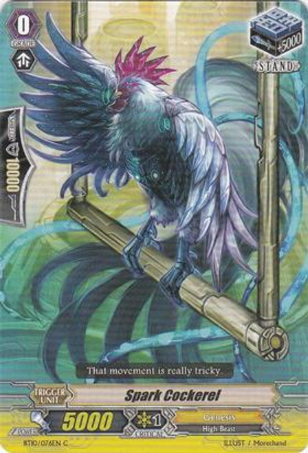Cardfight Vanguard Triumphant Return of the King of Knights Common Spark Cockerel BT10/076