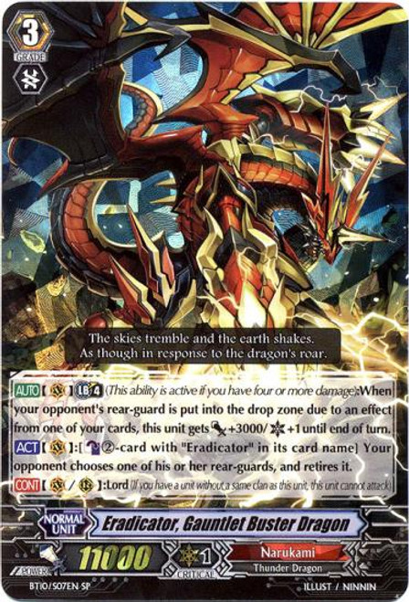 Cardfight Vanguard Triumphant Return of the King of Knights SP Eradicator, Gauntlet Buster Dragon BT10/S07