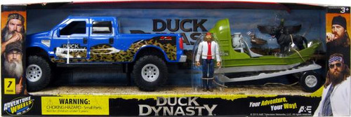 Duck Dynasty Adventure Wheels Blue Truck, Boat & Willie Action Figure Playset