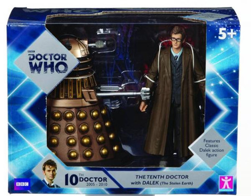 Doctor Who The Tenth Doctor with Dalek Action Figure 2-Pack [Gold]