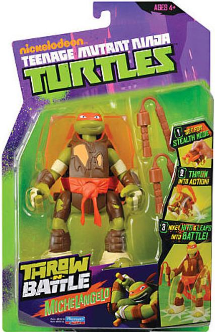 Teenage Mutant Ninja Turtles Nickelodeon Throw N Battle Michelangelo Action Figure