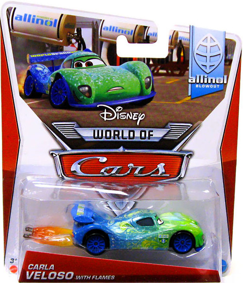 Disney Cars The World of Cars Series 2 Carla Veloso with Flames Diecast Car #1 of 9