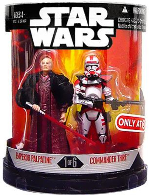 Star Wars Revenge of the Sith Order 66 2007 Emperor Palpatine & Commander Thire Exclusive Action Figure 2-Pack #1 of 6