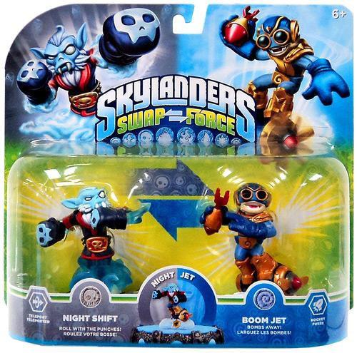 Skylanders Swap Force Swappable Night Shift & Boom Jet Exclusive Figure 2-Pack