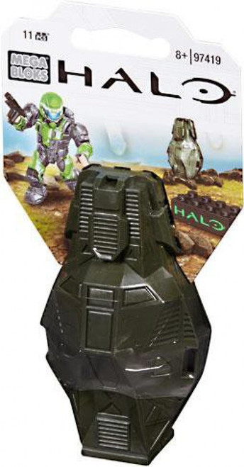 Mega Bloks Halo Metallic ODST Drop Pod Set #97419 [Green UNSC]
