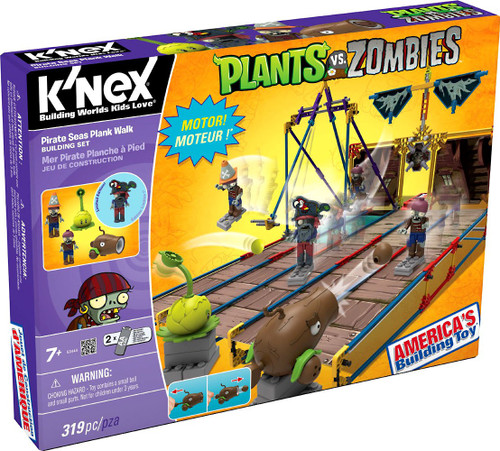 K'NEX Plants vs. Zombies Pirate Seas Plank Walk Set #53444