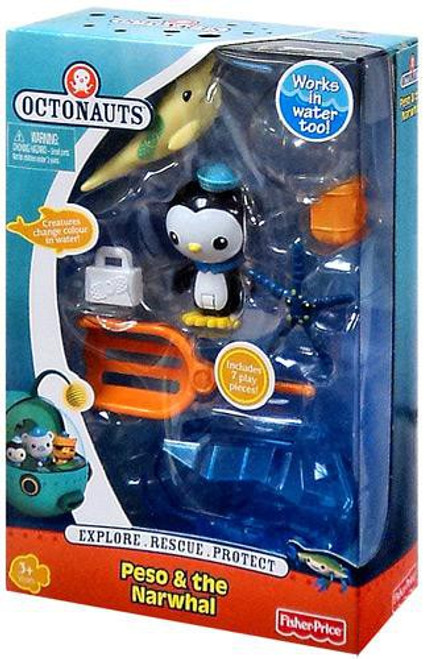 Fisher Price Octonauts Rescue Peso & The Narwhal Figure 2-Pack