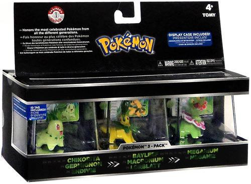 Pokemon Chikorita, Bayleef & Meganium Trainer's Choice Mini Figure 3-Pack