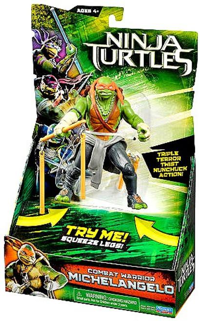 Teenage Mutant Ninja Turtles 2014 Movie Michelangelo Action Figure [Combat Warrior]