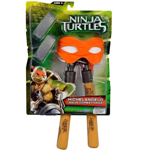 Teenage Mutant Ninja Turtles 2014 Movie Michelangelo Ninja Combat Gear Roleplay Toy