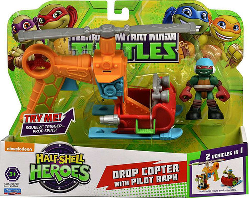 Teenage Mutant Ninja Turtles TMNT Half Shell Heroes Drop Copter Action Figure Vehicle