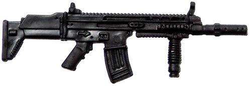 GI Joe Loose Weapons SCAR Rifle Action Figure Accessory [Black Loose]