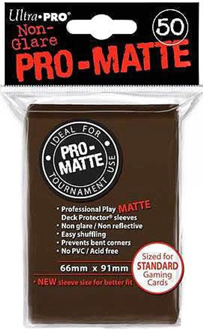 Ultra Pro Card Supplies Non-Glare Pro-Matte Brown Standard Card Sleeves [50 ct]