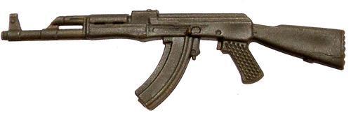 GI Joe Loose Weapons AK-47 Assault Rifle Action Figure Accessory [Olive Green Loose]