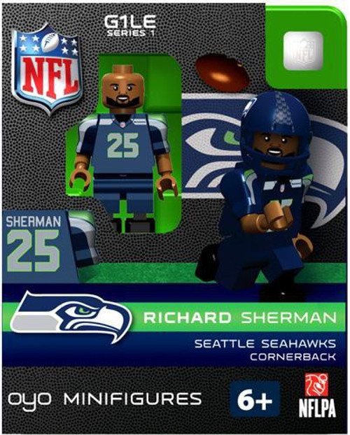 Seattle Seahawks NFL Generation 1 Series 1 Richard Sherman Minifigure