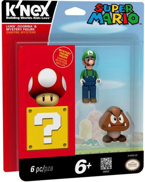 K'NEX Super Mario Luigi, Goomba & Mystery Exclusive Figure 3-Pack