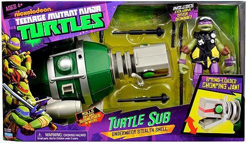 Teenage Mutant Ninja Turtles Nickelodeon Turtle Sub Exclusive Action Figure Vehicle
