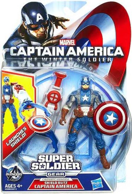 The Winter Soldier Super Soldier Gear Shield Blitz Captain America Action Figure