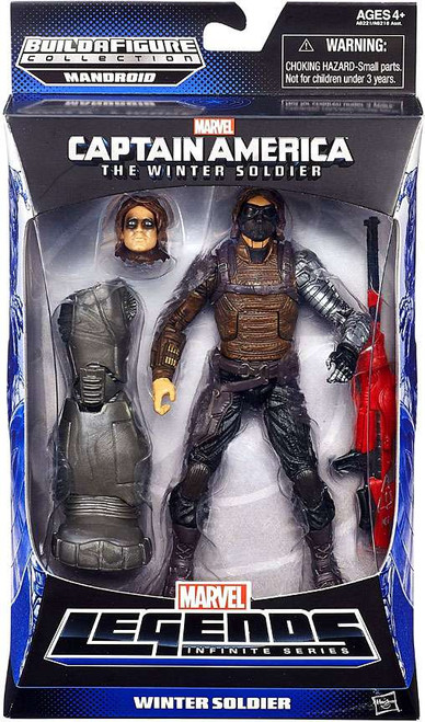 Captain America 2 The Winter Soldier Marvel Legends Infinite Series Mandroid Winter Soldier Action Figure