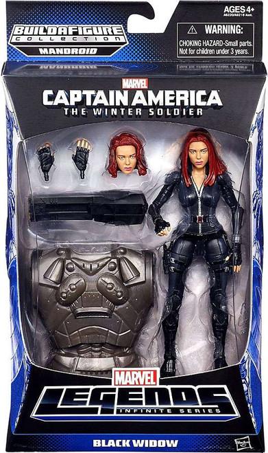 Captain America 2 The Winter Soldier Marvel Legends Infinite Series Mandroid Black Widow Action Figure