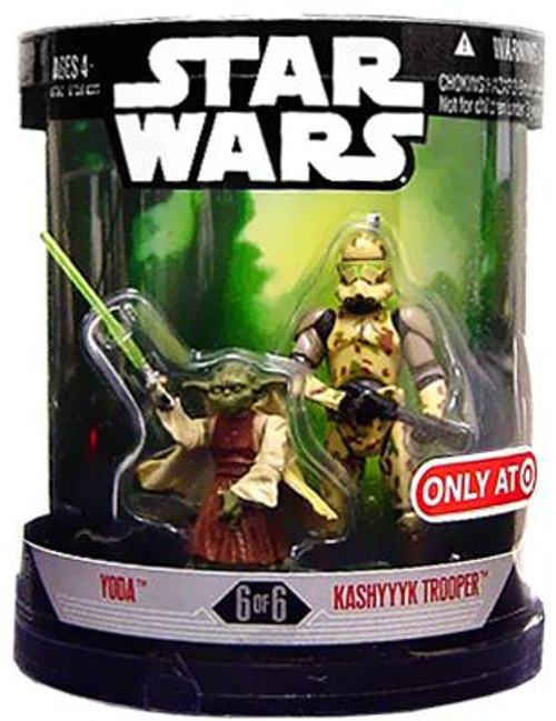 Star Wars Revenge of the Sith Order 66 2007 Yoda & Kashyyyk Trooper Exclusive Action Figure 2-Pack #6 of 6