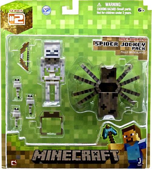 Minecraft Overworld Spider Jockey Action Figure Set