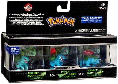 Pokemon Bulbasaur, Ivysaur & Venusaur Trainer's Choice Mini Figure 3-Pack