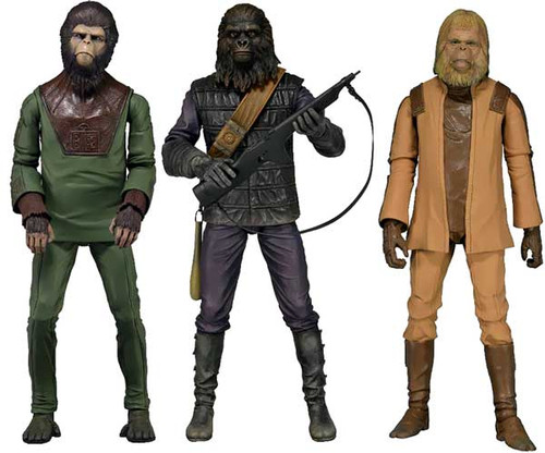 NECA Planet of the Apes Classic Series 1 Set of 3 Action Figures