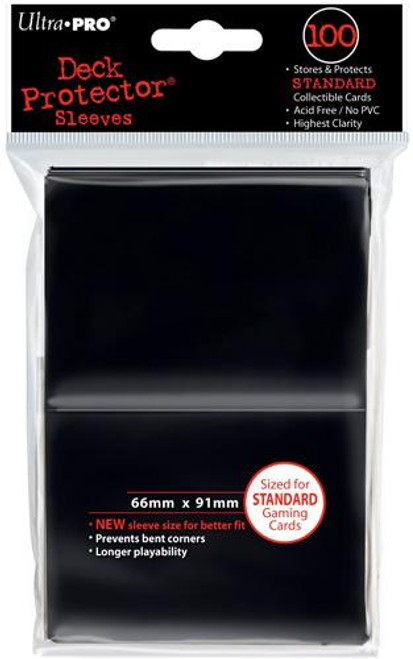 Ultra Pro Card Supplies Deck Protector Black Standard Card Sleeves [100 ct]