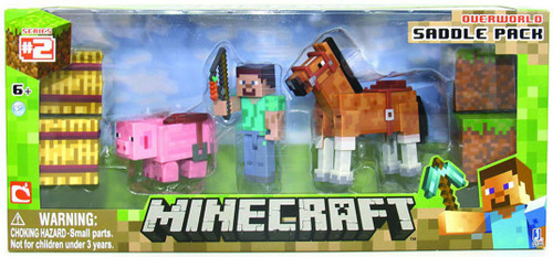 Minecraft Overworld Saddle Pack Exclusive Figure Set
