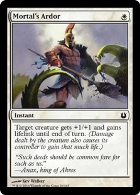 MtG Born of the Gods Common Mortal's Ardor #20