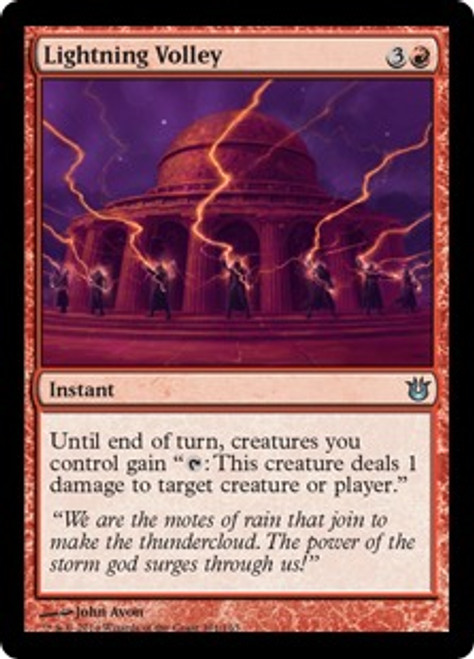 MtG Born of the Gods Uncommon Lightning Volley #101