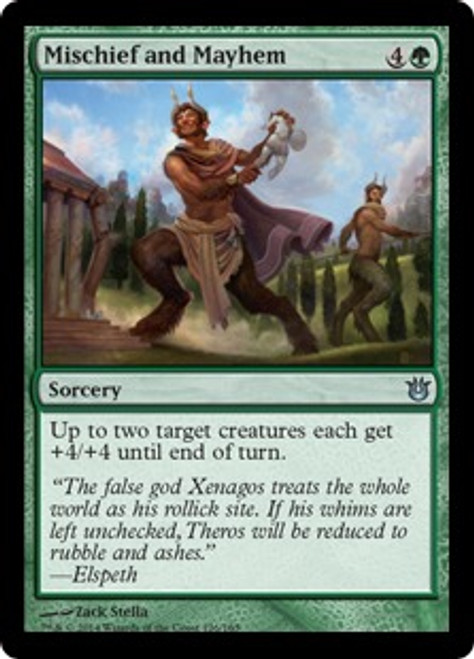 MtG Born of the Gods Uncommon Mischief and Mayhem #126