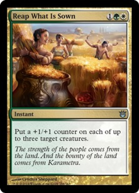 MtG Born of the Gods Uncommon Reap What Is Sown #154