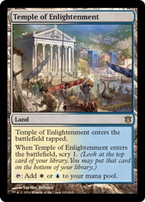 MtG Born of the Gods Rare Temple of Enlightenment #163