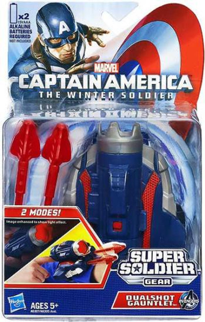 Captain America The Winter Soldier Super Soldier Gear Dualshot Gauntlet 7-Inch