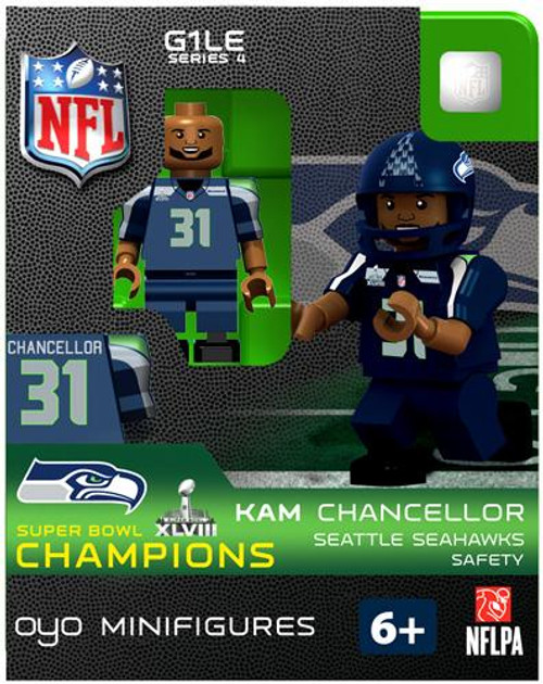 Seattle Seahawks NFL Super Bowl XLVIII Champions Kam Chancellor Minifigure