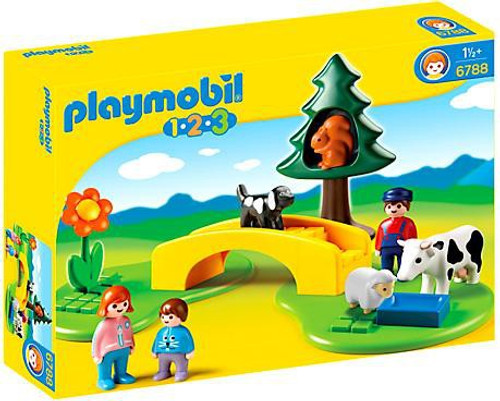 Playmobil 1.2.3 Meadow Path Set #6788