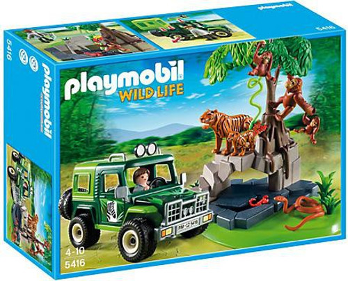 Playmobil Wild Life Jungle Animals & Off-Road Vehicle Set #5416