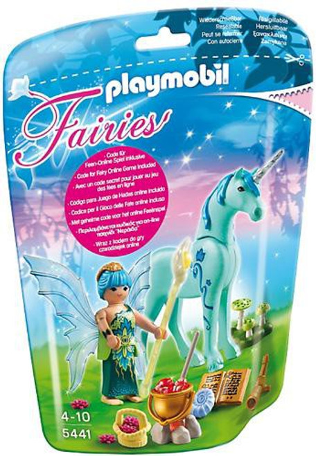 Playmobil Fairies Healer Fairy with Sapphire Night Unicorn Set #5441