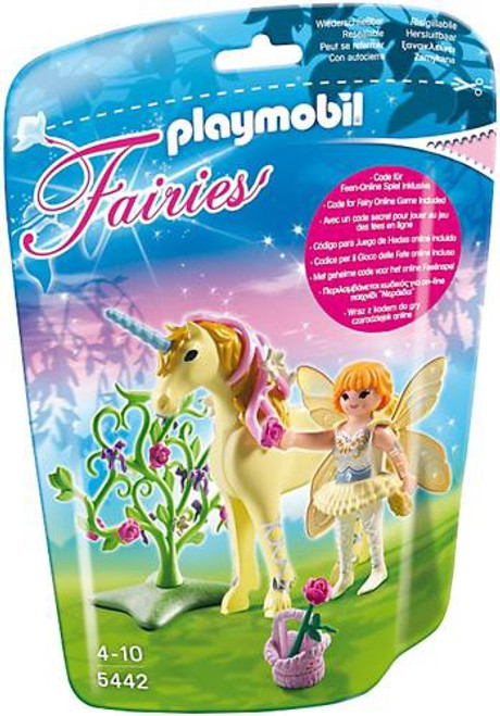 Playmobil Fairies Flower Fairy with Sun Beam Unicorn Set #5442
