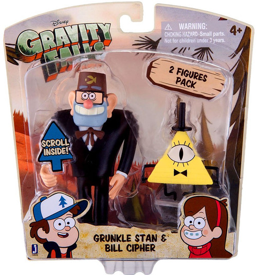 Disney Gravity Falls Grunkle Stan & Bill Cipher Action Figure 2-Pack