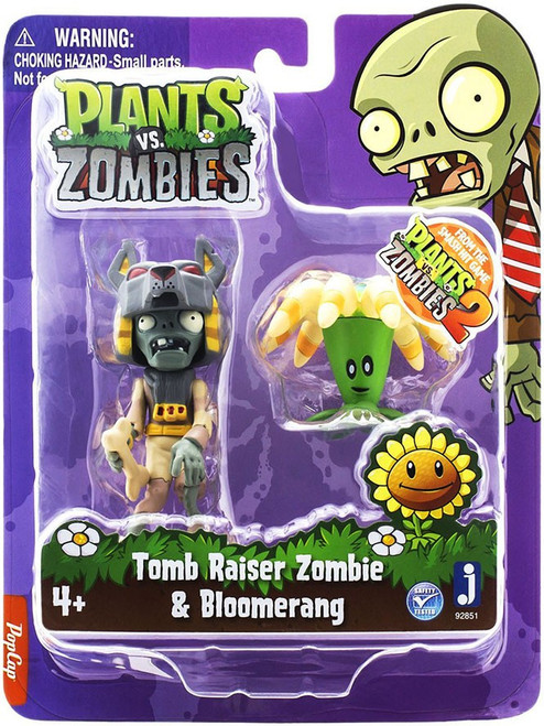 Plants vs. Zombies 2 Tomb Raiser Zombie & Boomerang 3-Inch Figure 2-Pack