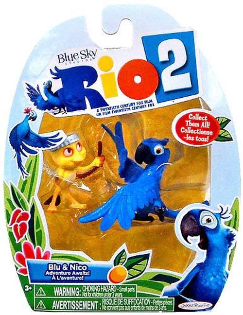 Rio 2 Blu & Nico Mini Figure 2-Pack