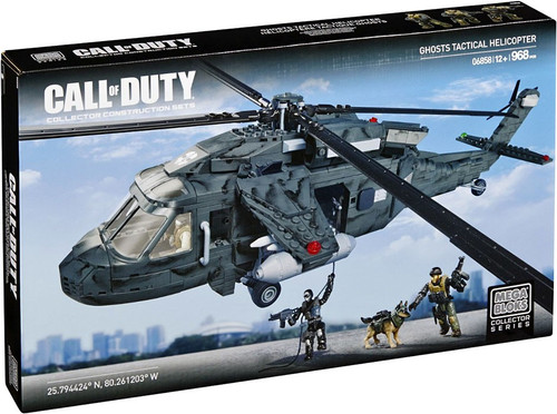 Mega Bloks Call of Duty Ghost Tactical Helicopter Set #06858